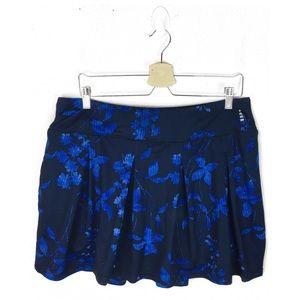 Lands' end | Blue floral print tennis skirt